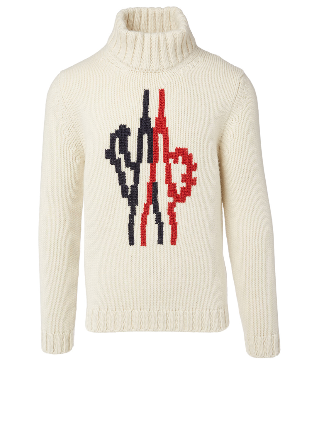 MONCLER GENIUS 2 Moncler 1952 + Valextra Wool Turtleneck Sweater Men's White