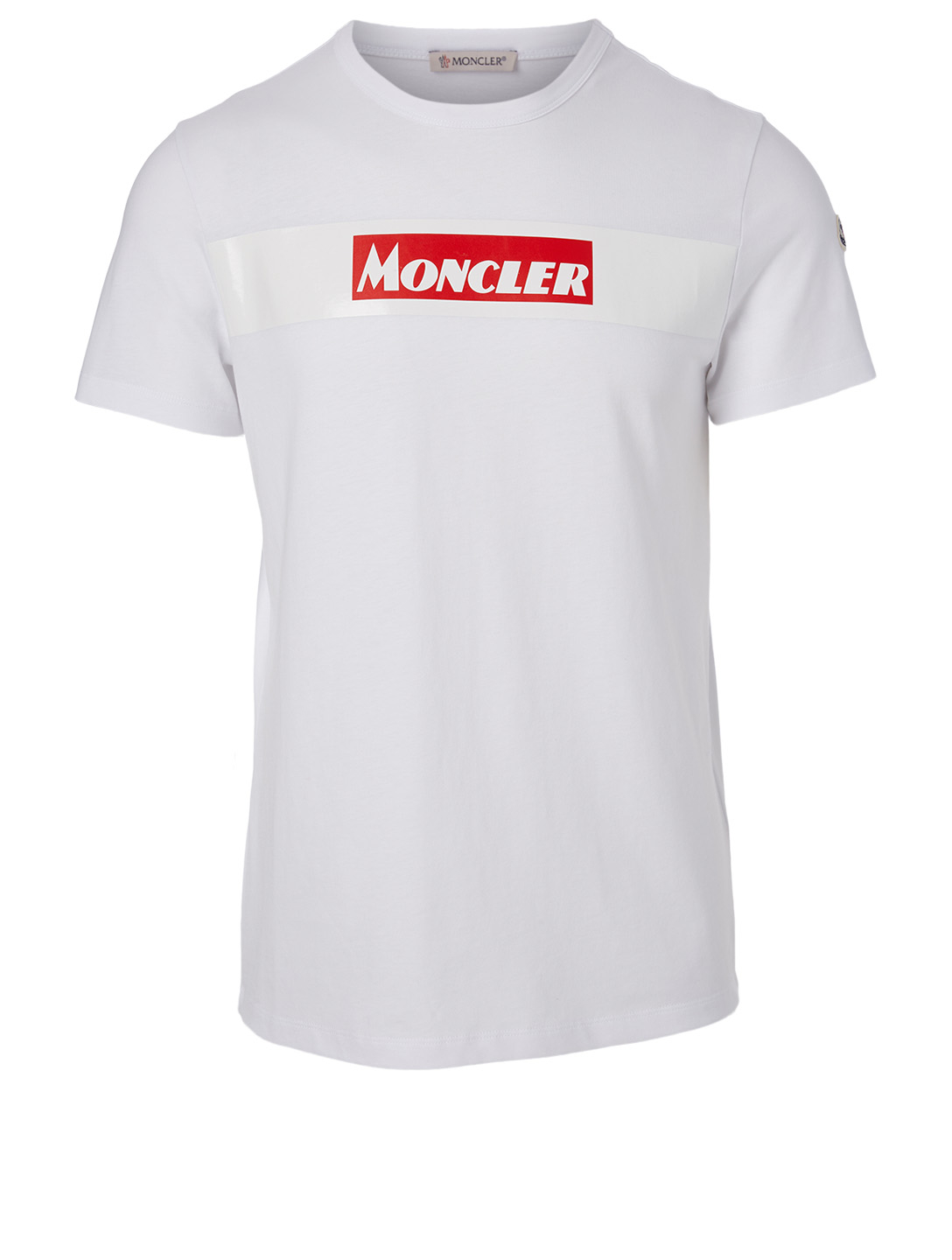 MONCLER Cotton Logo T-Shirt Men's White