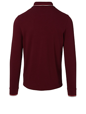 MONCLER Long Sleeve Polo Shirt Men's Red