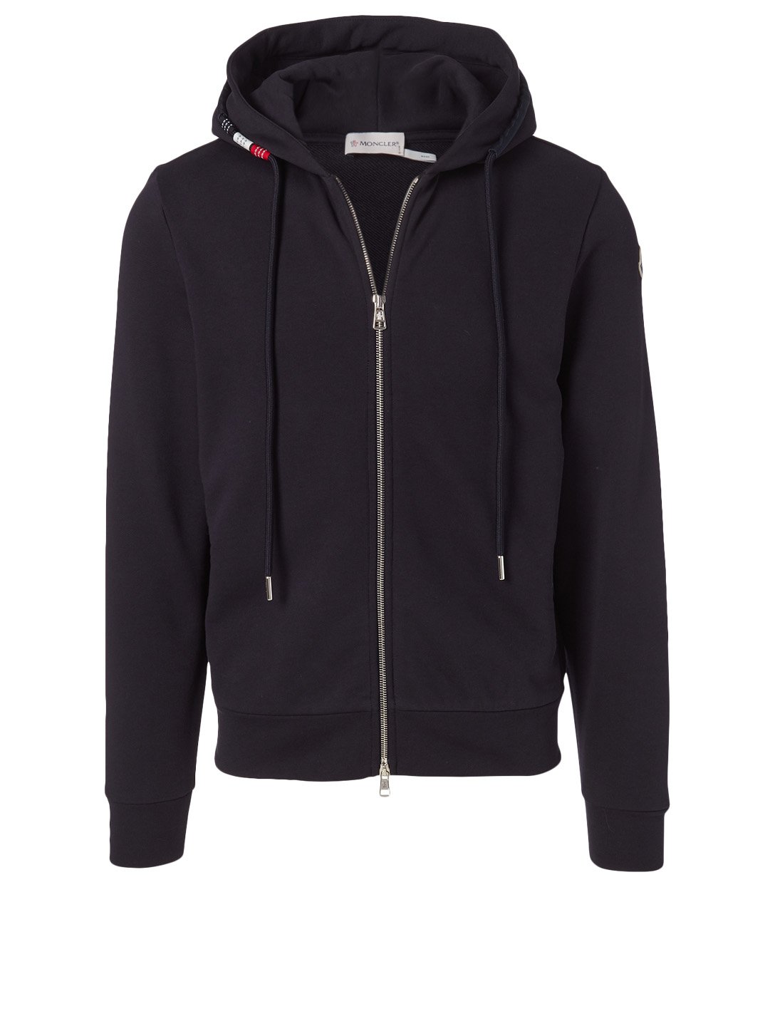 MONCLER Cotton Zip Hoodie Men's Blue