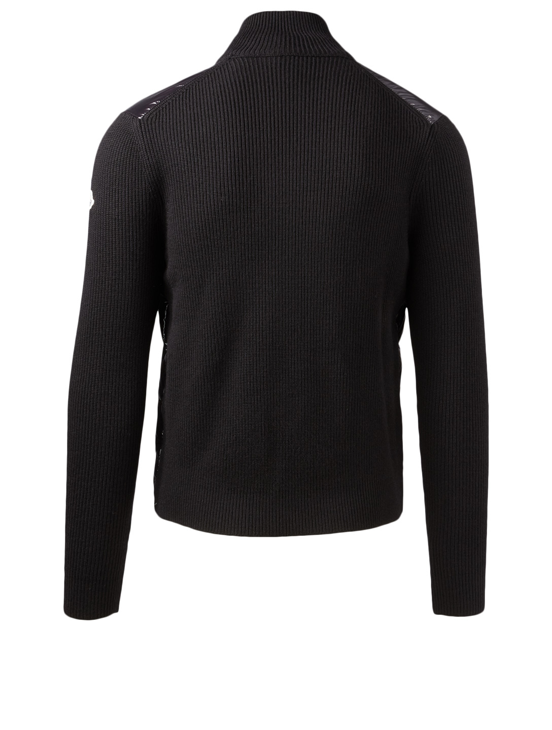 MONCLER Wool Down Cardigan Men's Black