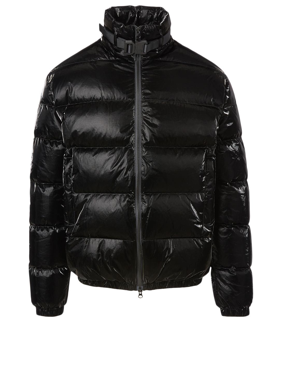 1017 ALYX 9SM Down Puffer Coat With Buckle Men's Black