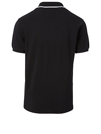 KENZO Cotton Tiger Crest Polo Shirt Men's Black