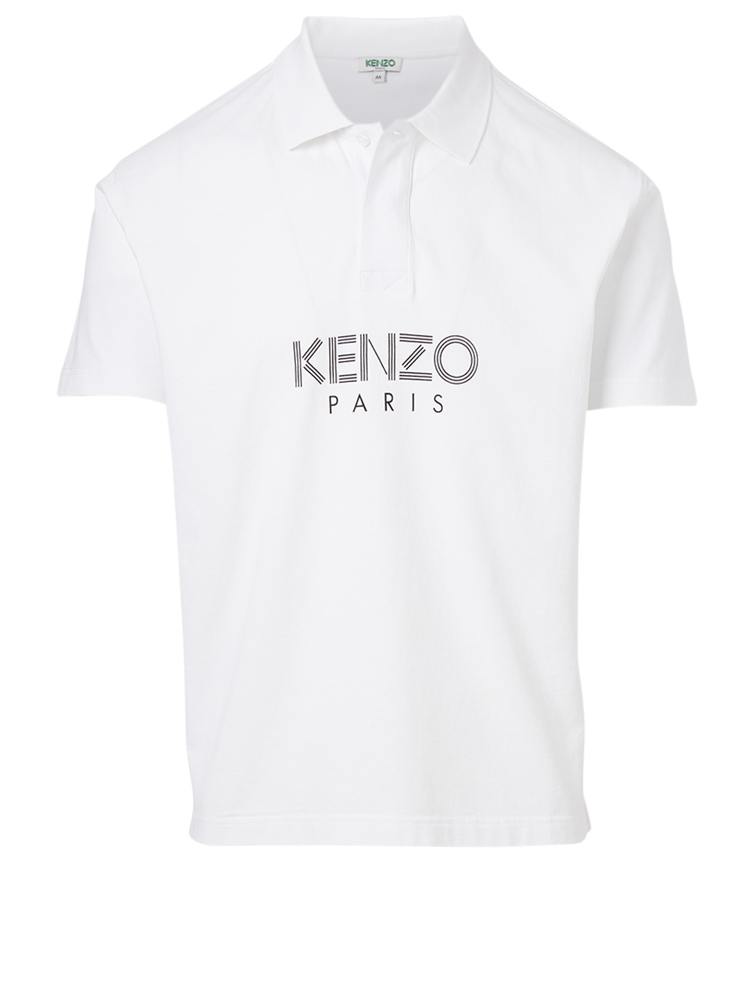 KENZO Cotton Logo Polo Shirt Men's White