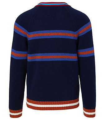 KENZO Wool-Blend Jumping Tiger Sweater Men's Blue