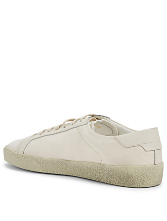 SAINT LAURENT Court Classic SL/06 Canvas Sneakers Men's White