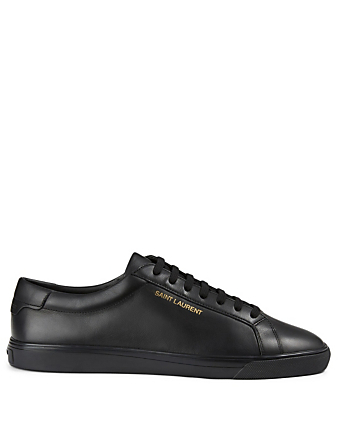 SAINT LAURENT Andy Leather Sneakers Men's Black