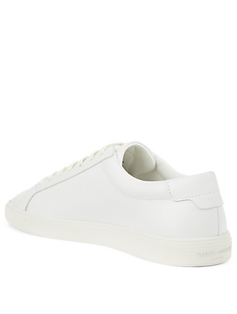 SAINT LAURENT Andy Leather Sneakers Men's White