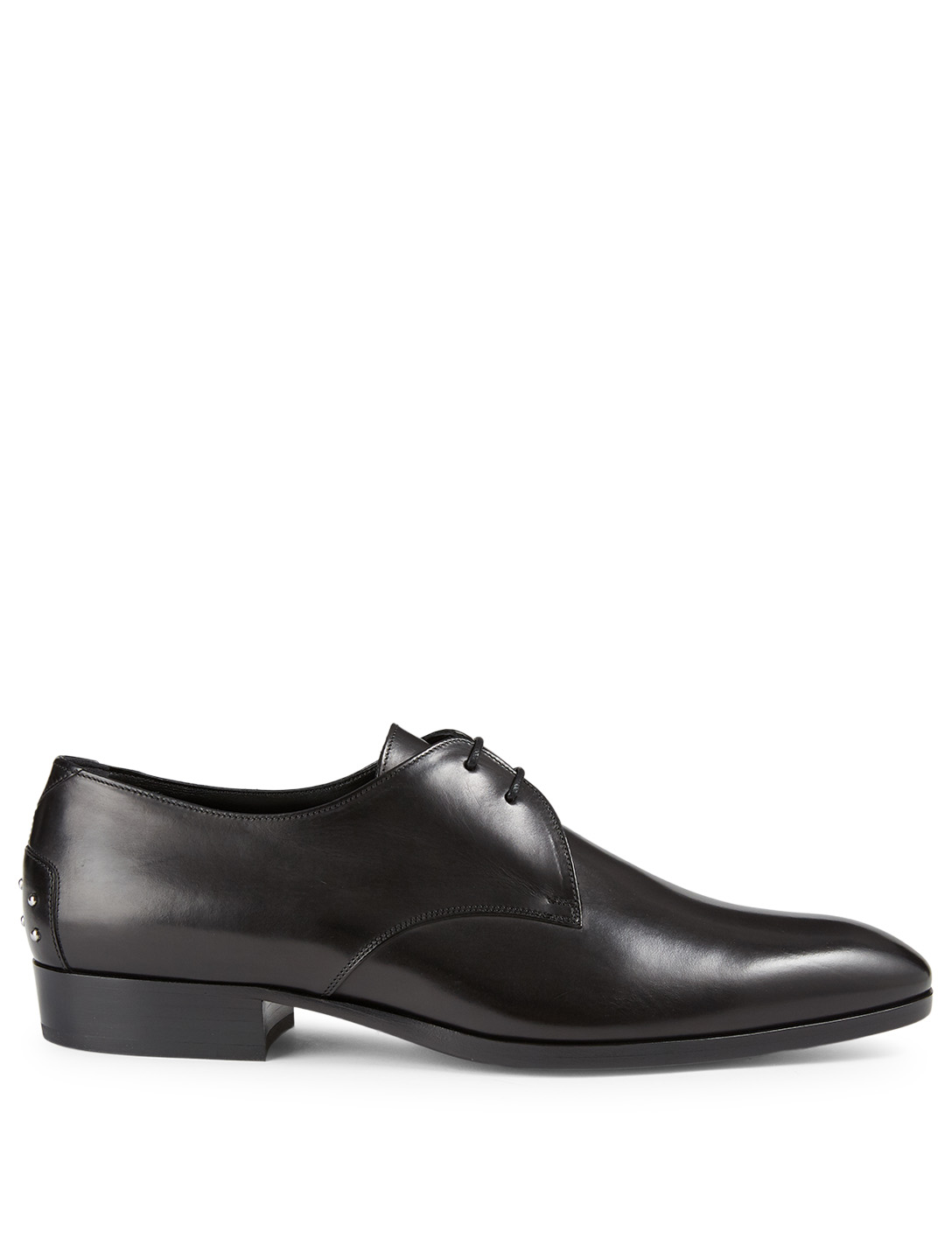 SAINT LAURENT Wyatt Leather Derby Shoes Men's Black