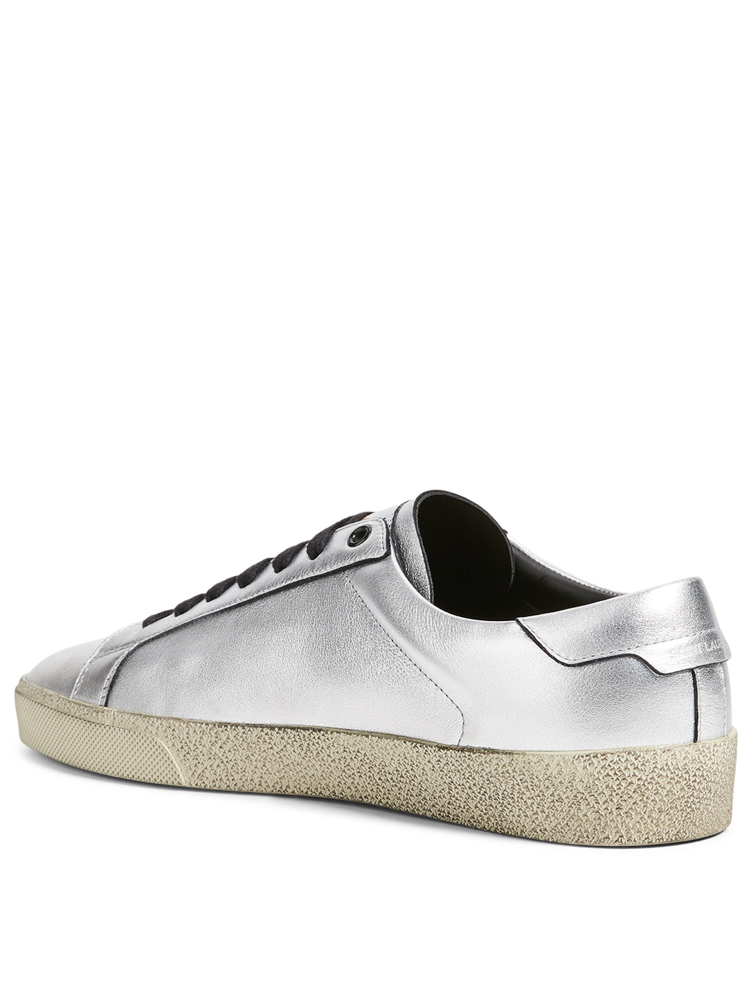 SAINT LAURENT Court Classic SL/06 Metallic Leather Sneakers Men's Metallic
