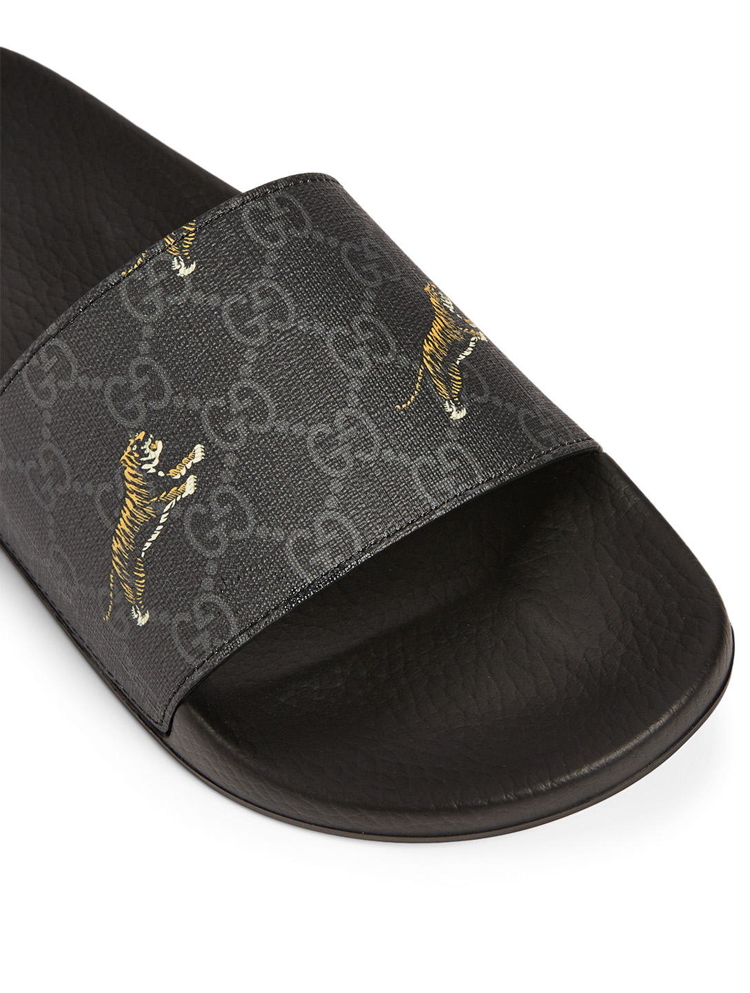b7cf96417f GUCCI GG Supreme Canvas Slide Sandals In Tiger Print | Holt Renfrew