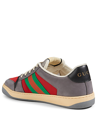 GUCCI Screener Suede Sneakers Men's Grey