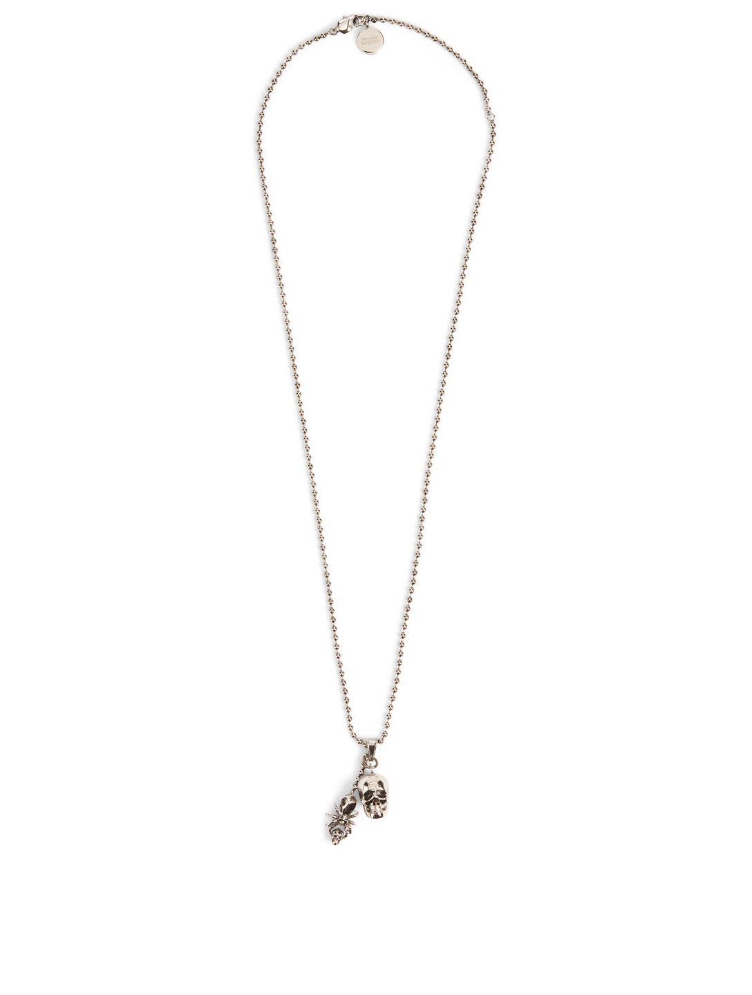 ALEXANDER MCQUEEN Skull And Spider Necklace Men's Metallic