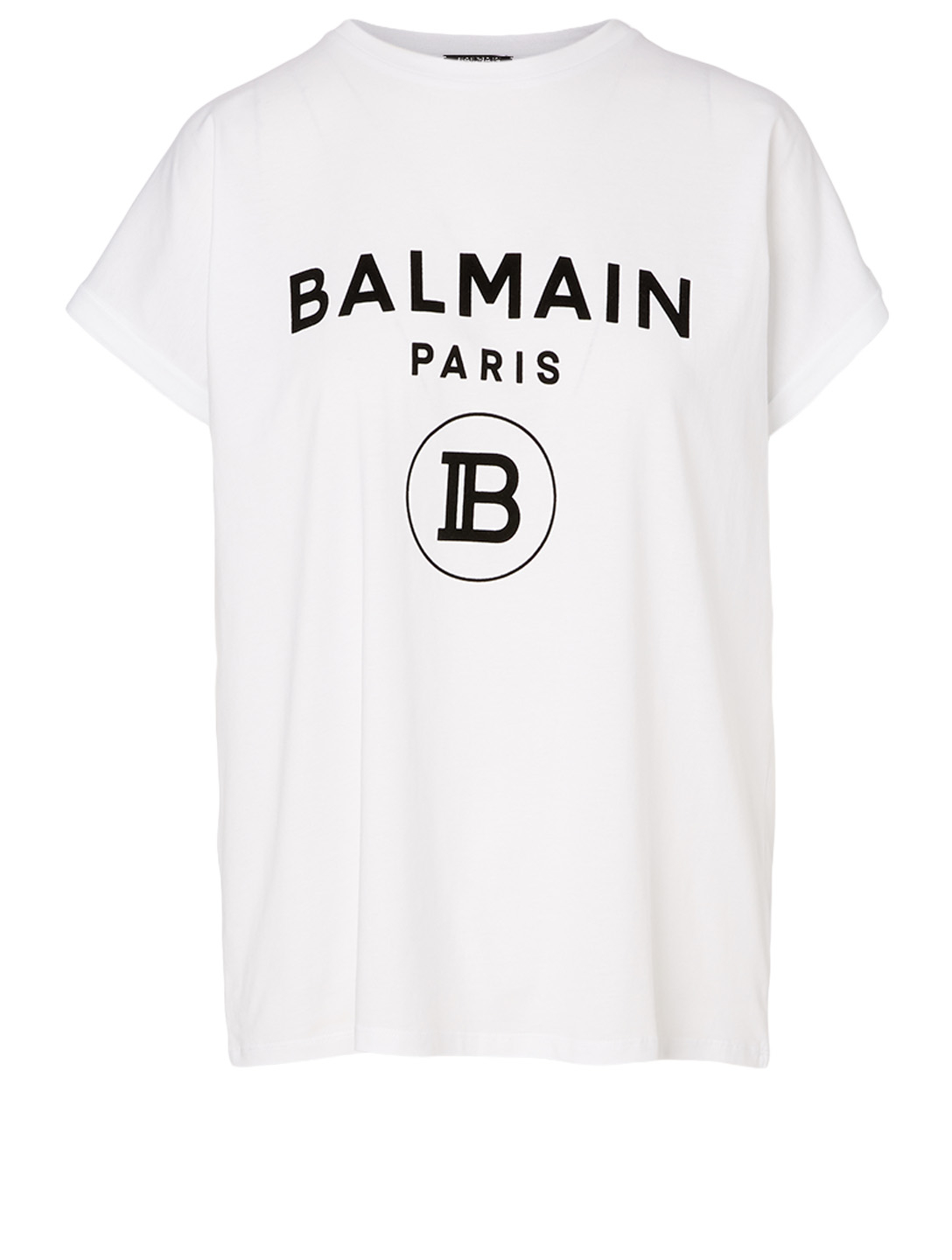 BALMAIN Cotton Logo T-Shirt Women's White