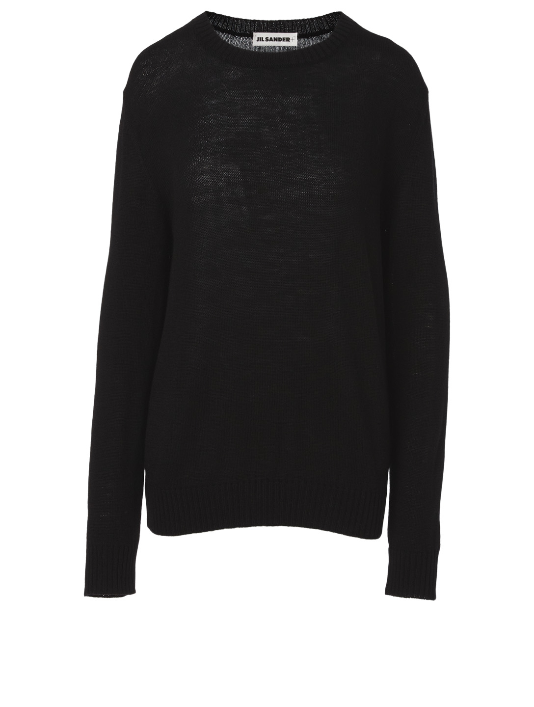 JIL SANDER Wool Crewneck Sweater Women's Black