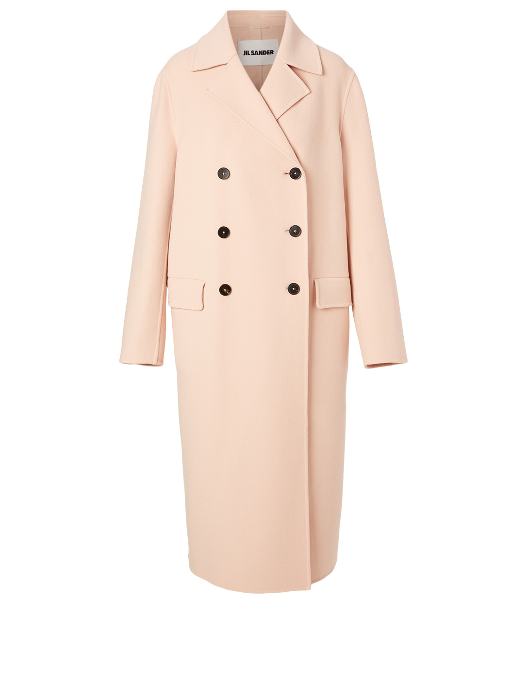 JIL SANDER Cashmere Long Coat Women's Pink