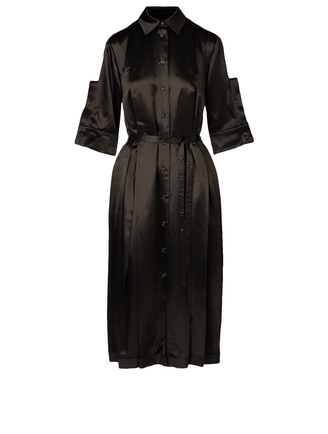 JIL SANDER Midi Dress With Cuffs Women's Black