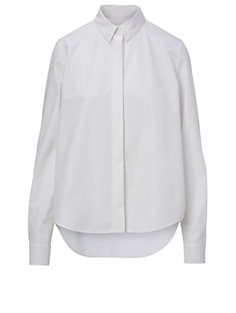 JIL SANDER Cotton Long-Sleeve Shirt Women's White