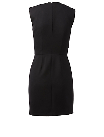 ALEXANDER MCQUEEN Wool And Silk Zipper Dress Women's Black