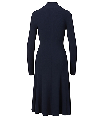 LIVE THE PROCESS Mockneck Knit Sweater Dress Women's Blue