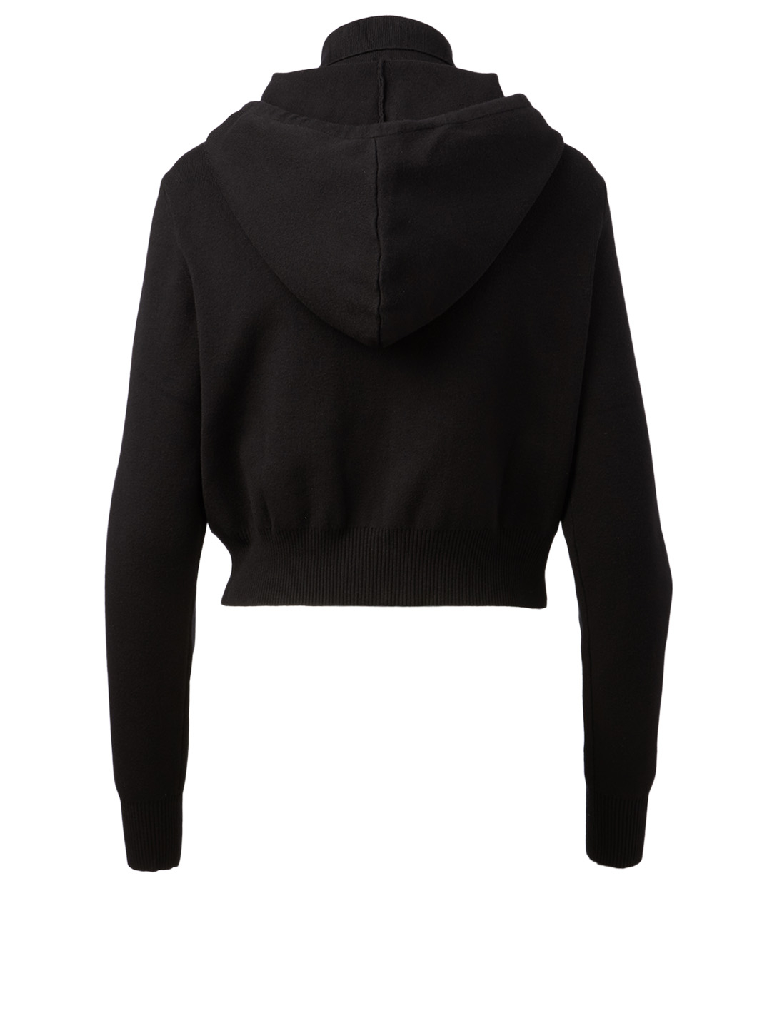 LIVE THE PROCESS Cropped Zip Hoodie Women's Black