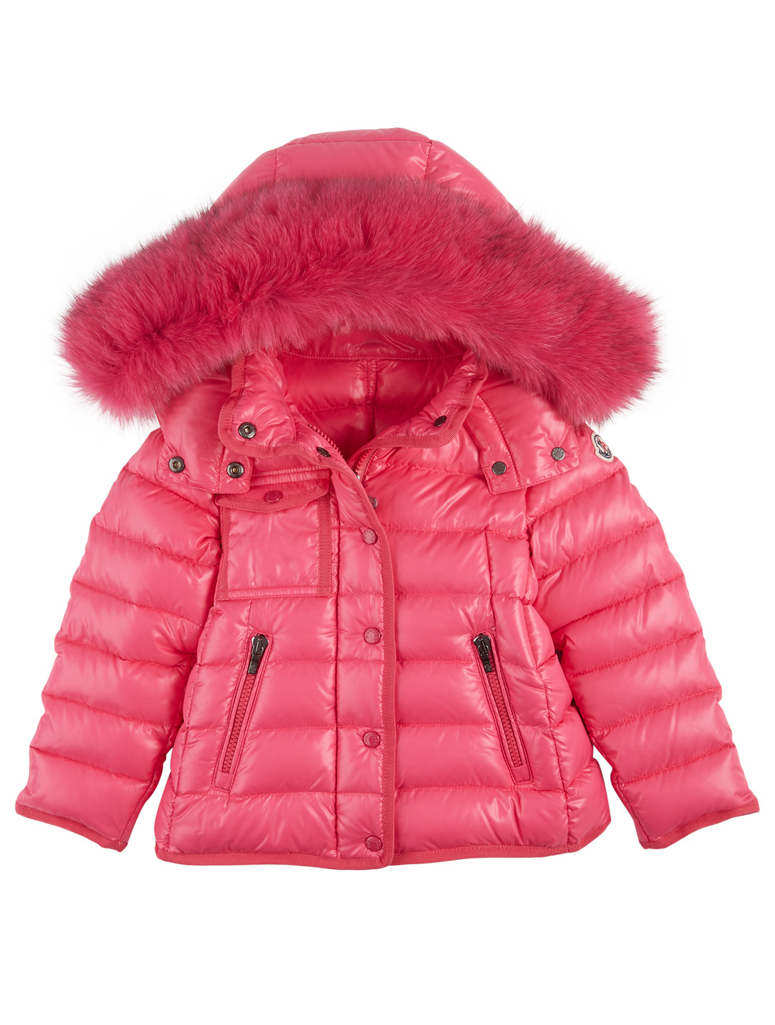 MONCLER ENFANT Kids New Armoise Down Jacket With Fur Hood Kids Pink