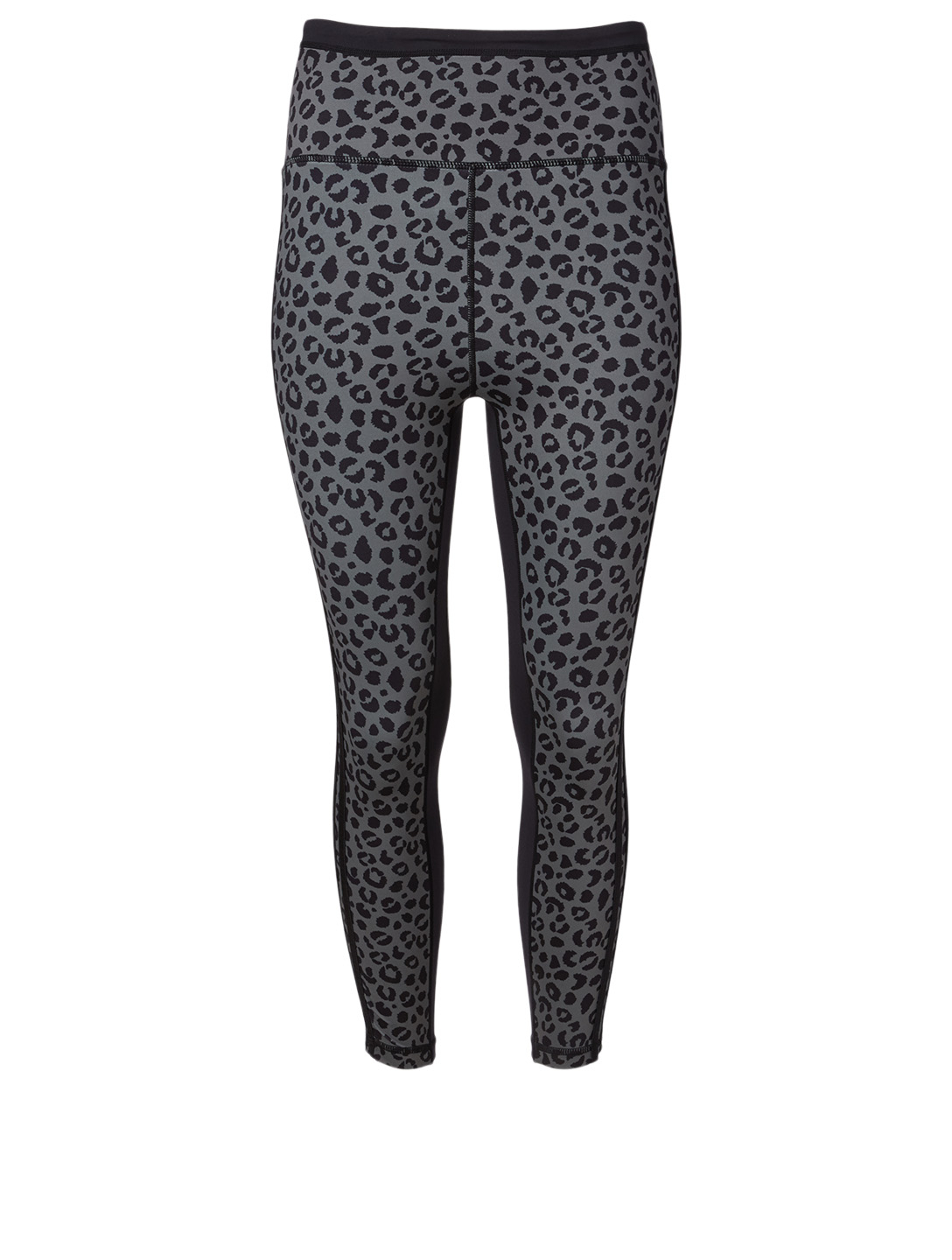ALL FENIX Black Jagger High Waisted Cropped Leggings In Leopard Print Women's Green
