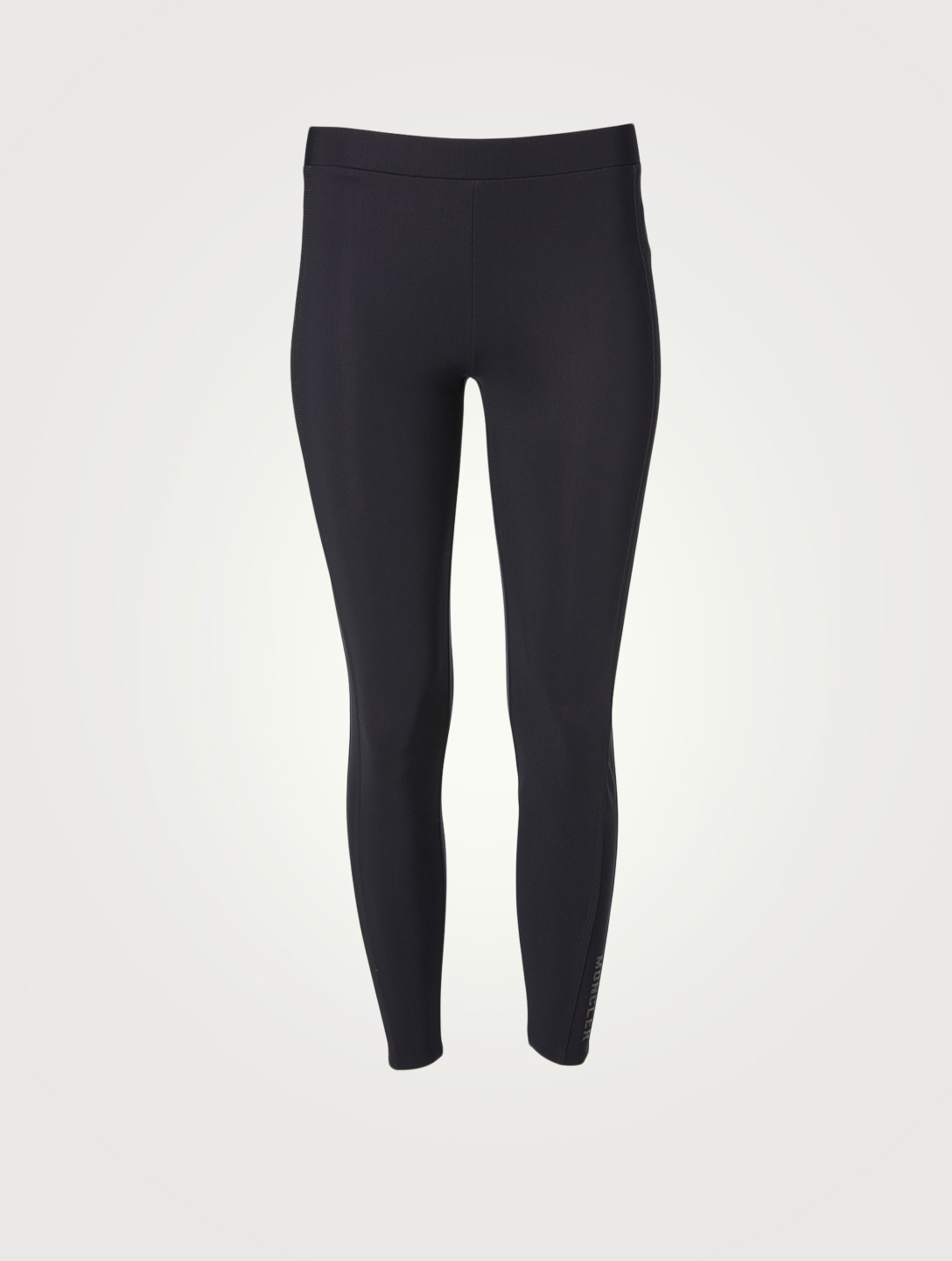 MONCLER Stretch Logo Leggings Women's Black