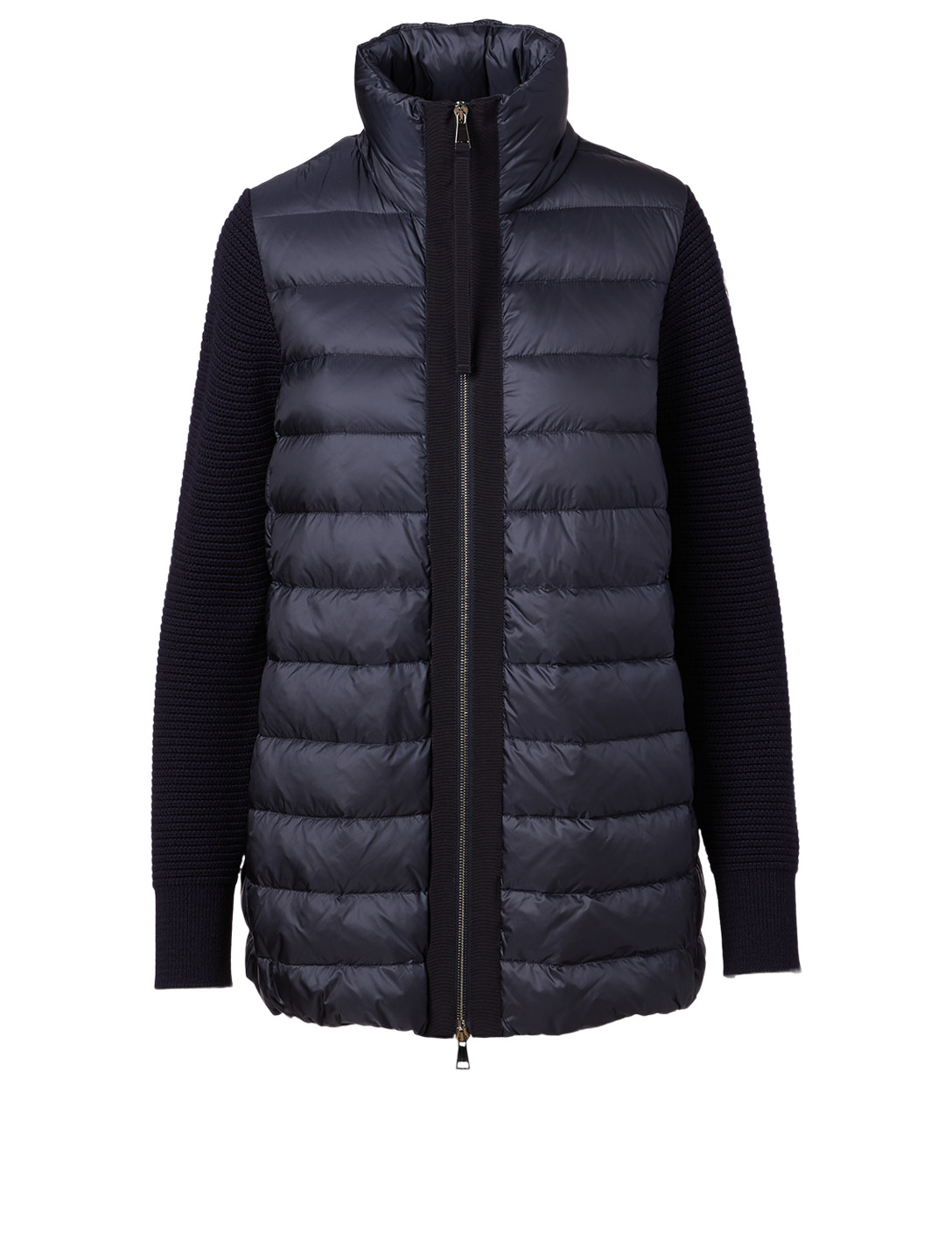 MONCLER Quilted Zip Cardigan Women's Blue