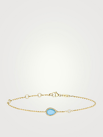 BOUCHERON Serpent Bohème XS Motif Gold Bracelet With Turquoise And Diamond Women's Gold