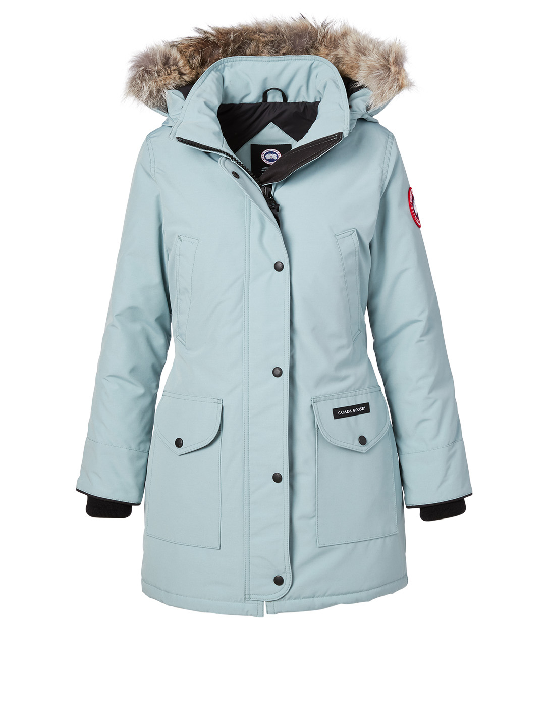 CANADA GOOSE Trillium Down Parka With Fur Hood - Fusion Fit Women's Blue