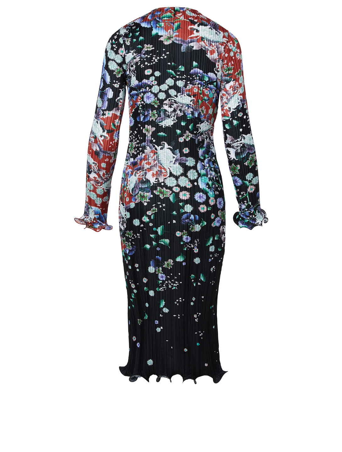 GIVENCHY Pleated Midi Dress Women's Multi