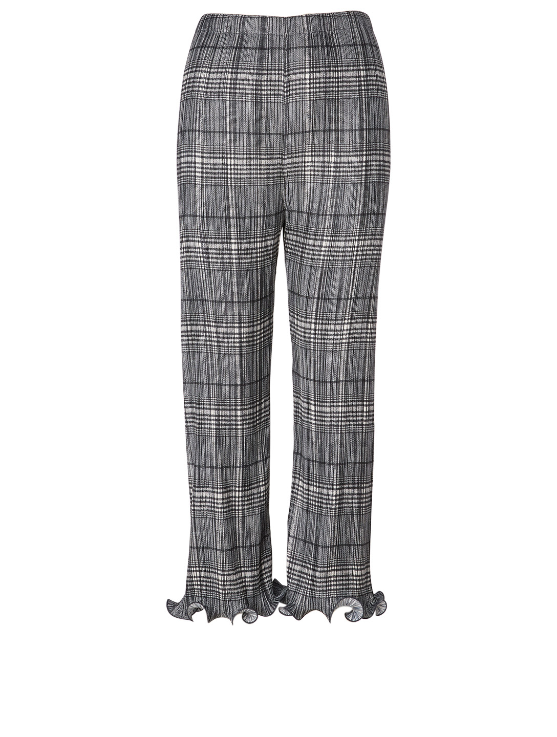 GIVENCHY Pleated Pants In Check Print Women's Grey