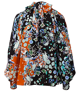 GIVENCHY Silk Blouse In Floral Print Women's Multi
