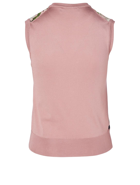 f8dc78fb2f DOLCE & GABBANA Silk Sleeveless Sweater In Floral Print | Holt Renfrew