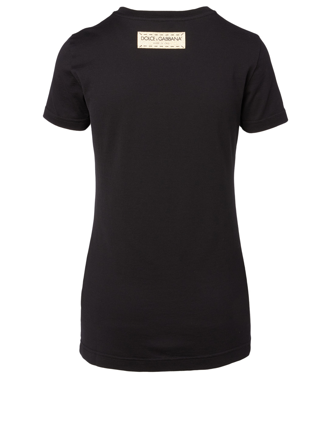 DOLCE & GABBANA Logo Cotton T-Shirt Women's Black