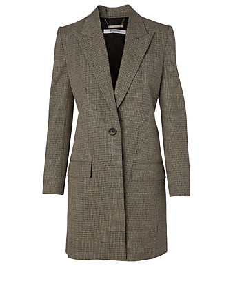 GIVENCHY Manteau en tweed de lainage à carreaux Femmes Multicolore