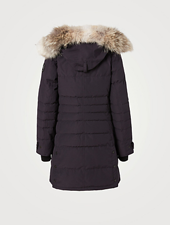 CANADA GOOSE Lorette Black Label Down Parka With Fur Hood Women's Blue