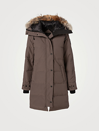 CANADA GOOSE Shelburne Black Label Down Parka With Fur Hood Women's Grey