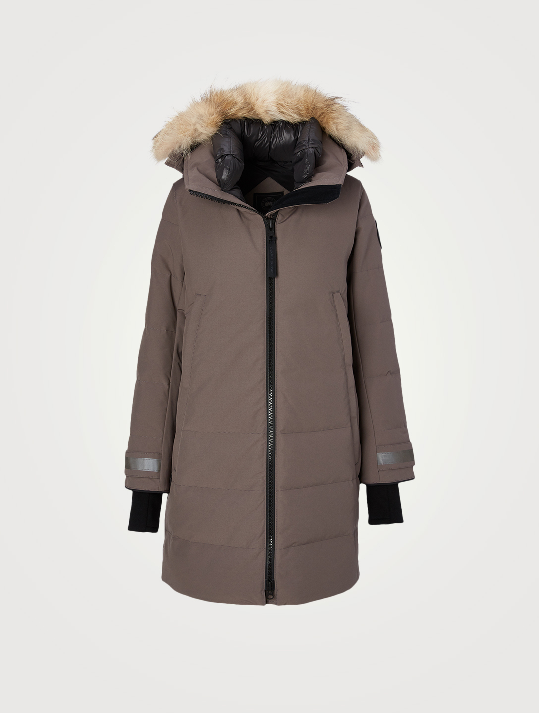 CANADA GOOSE Kenton Black Label Down Parka With Fur Hood Women's Grey
