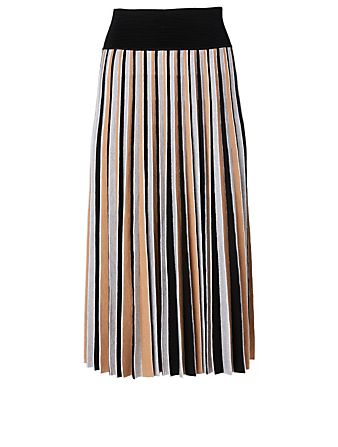 AGNONA Wool-Blend Midi Skirt Women's White