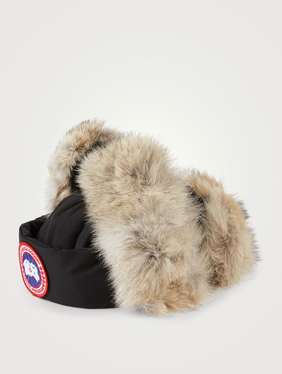 CANADA GOOSE Aviator Hat With Fur Women's Black