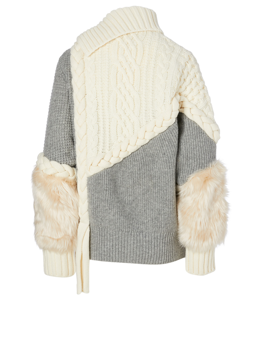 SACAI Wool-Blend Cable-Knit Sweater Women's Neutral
