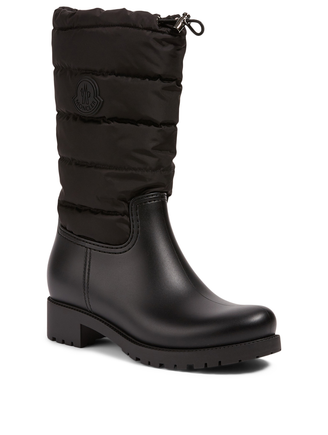 MONCLER Ginette Nylon And Rubber Rain Boots Women's Black
