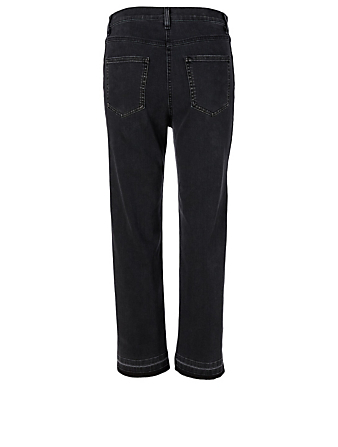 MCQ ALEXANDER MCQUEEN Cotton Stretch Side Stripe Jeans Women's Black