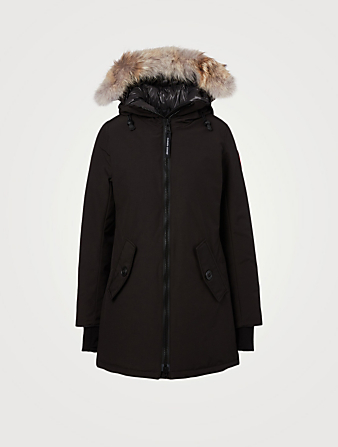 CANADA GOOSE Rosemont Down Parka With Fur Hood Women's Black