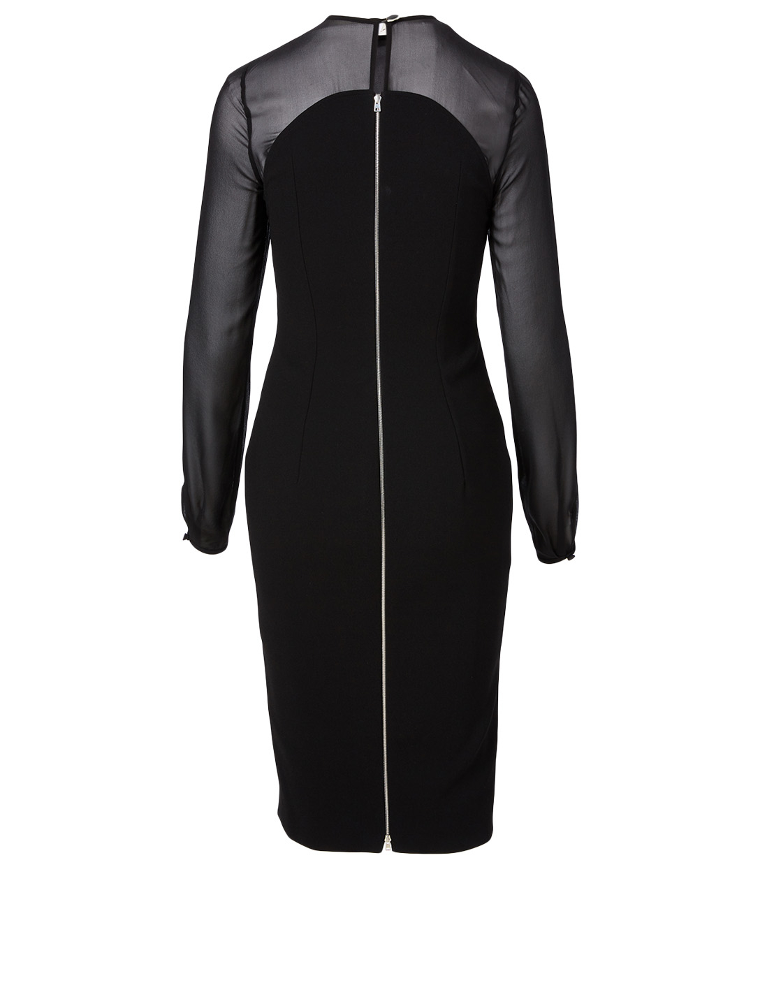 VICTORIA BECKHAM Long-Sleeve Fitted Dress Women's Black
