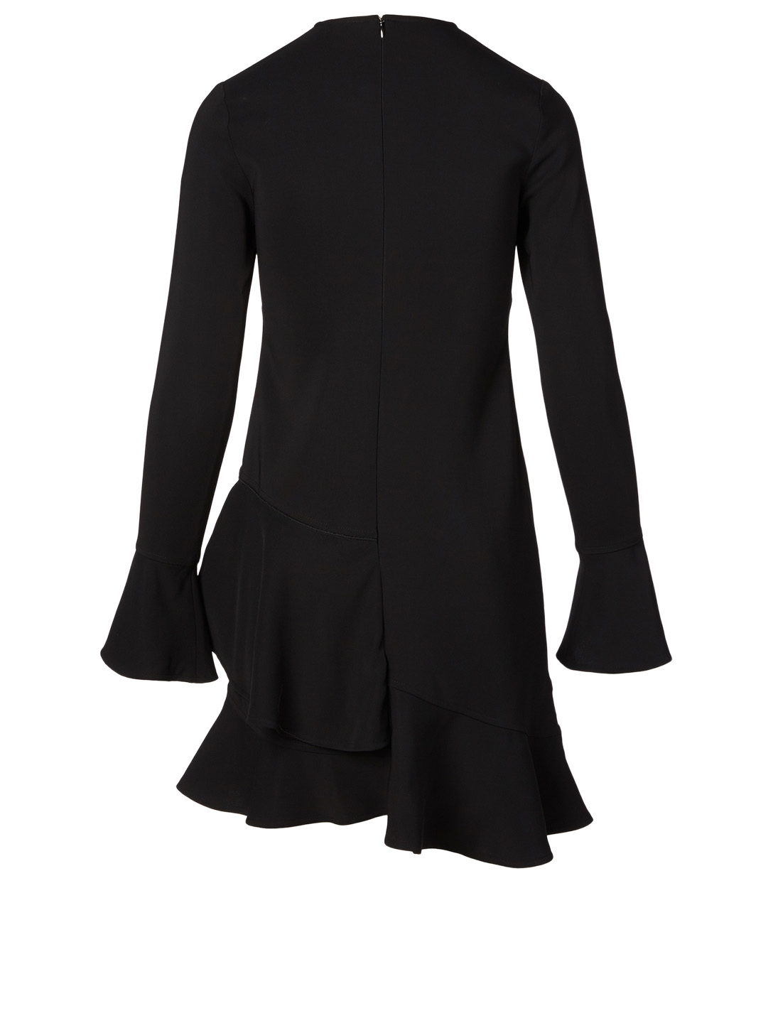 VICTORIA BECKHAM Long-Sleeve Ruffle Mini Dress Women's Black