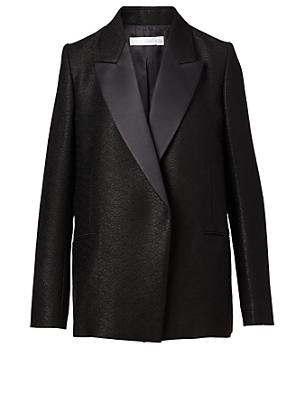 VICTORIA BECKHAM Wool-Blend Tuxedo Blazer Women's Black