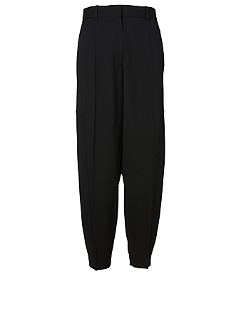 VICTORIA BECKHAM Wool High-Waisted Pants Women's Black